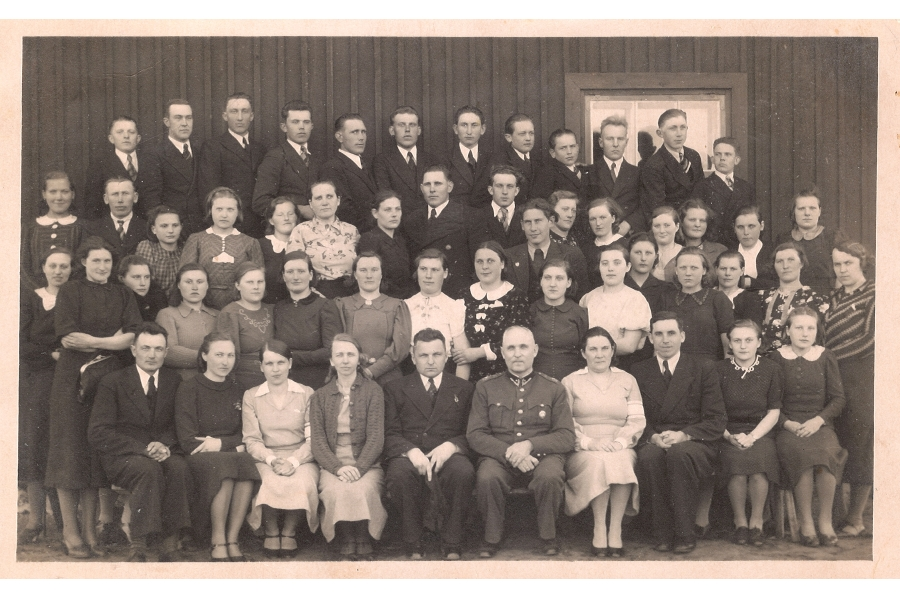 - High School Class Photo   - circa 1940  - Estonia
